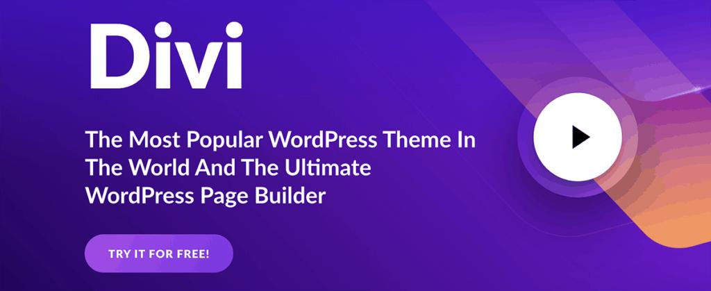 divi - best WordPress theme