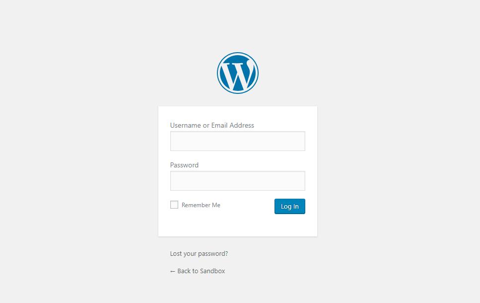 remember the wordpress login